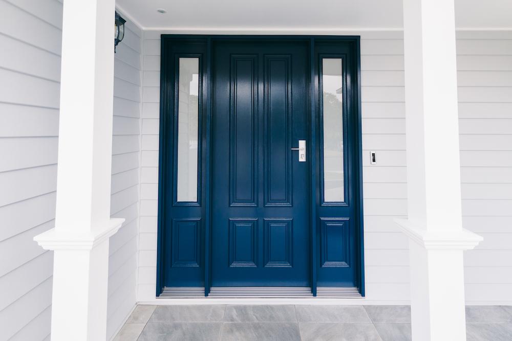 Diane Street front door exterior painting finish