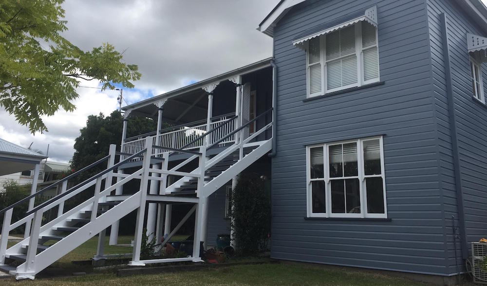 house exterior painted